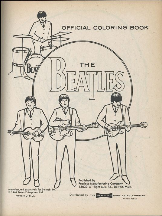 - The Very Best Quality In Authentic Autographs, Original Records &  Memorabilia Original 1960's Memorabilia Inv… The Beatles, Beatles  Drawing, Cool Coloring Pages