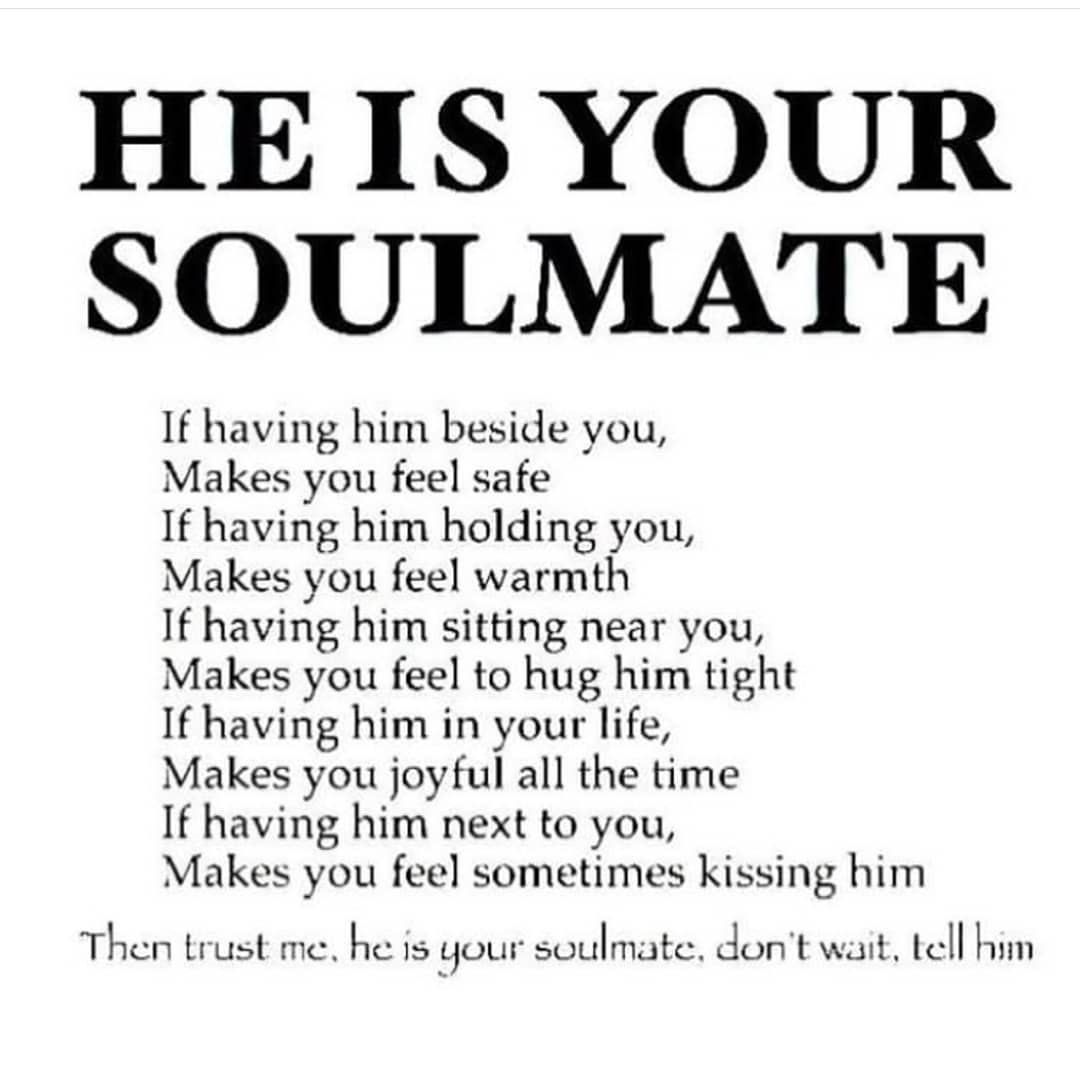 Soulmates That Can T Be Together Quotes: Your My Soulmate Babe #soulmatefacts