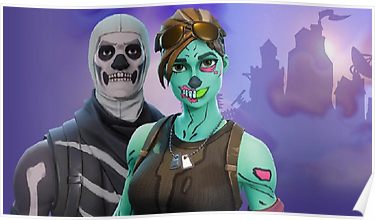 Skull Trooper And Ghoul Trooper Poster In 2019 Creepy