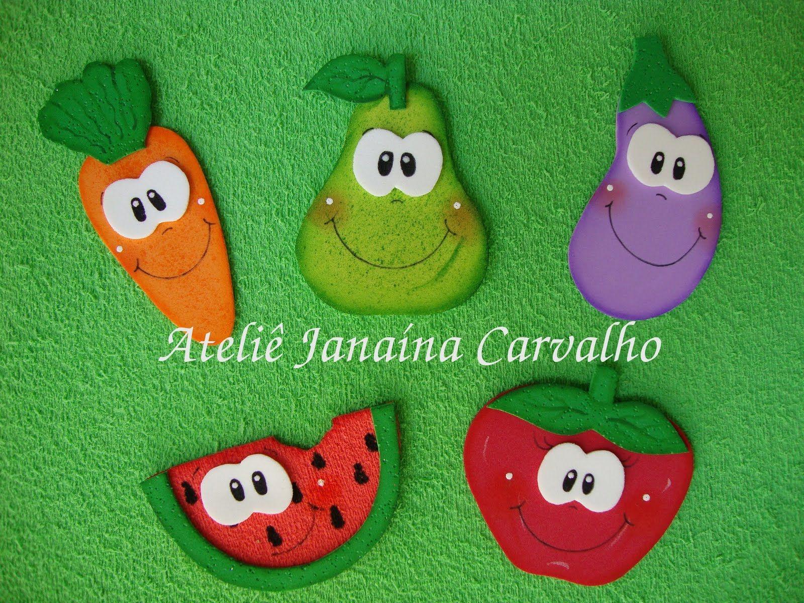Molde De Frutas Em Eva Pesquisa Google Huerto Pinterest