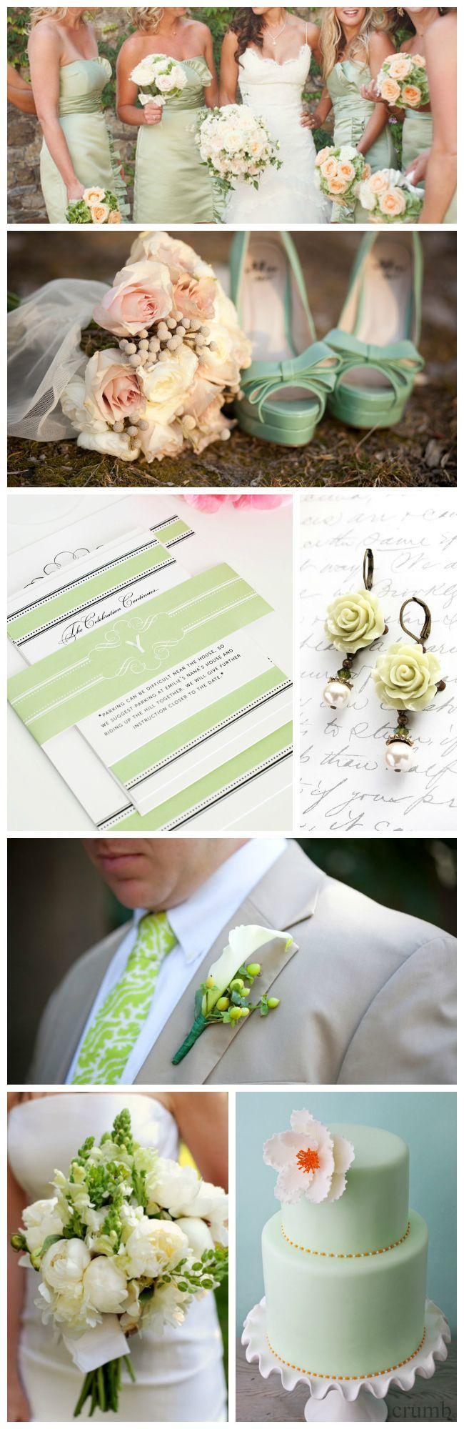 Light Green Wedding Inspiration Shine Wedding Invitations Green