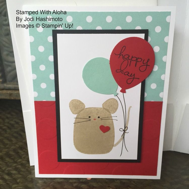 Playful Pals Mouse with Balloons
