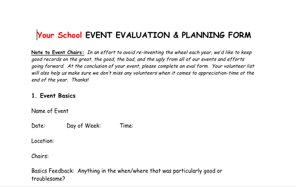 PostEvent Evaluation Form Great Way To Get Feedback And Make