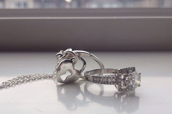 Ring Holder Necklace Wedding Anniversary By Mailovelythings