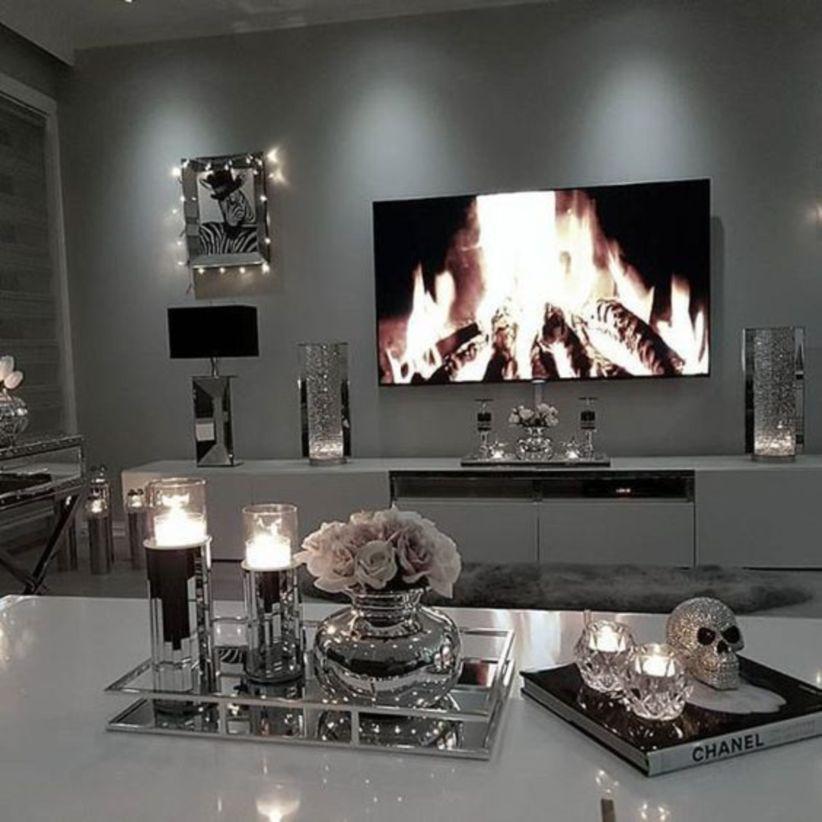 43 Modern Glam Living Room Decorating Ideas Modern Glam Living