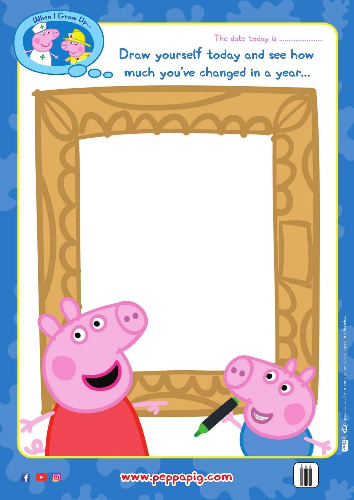 Back To Shool With Peppa Pig Free Time Capsule Activity Free Printable Activities Time Capsule Peppa Pig [ 1600 x 1131 Pixel ]