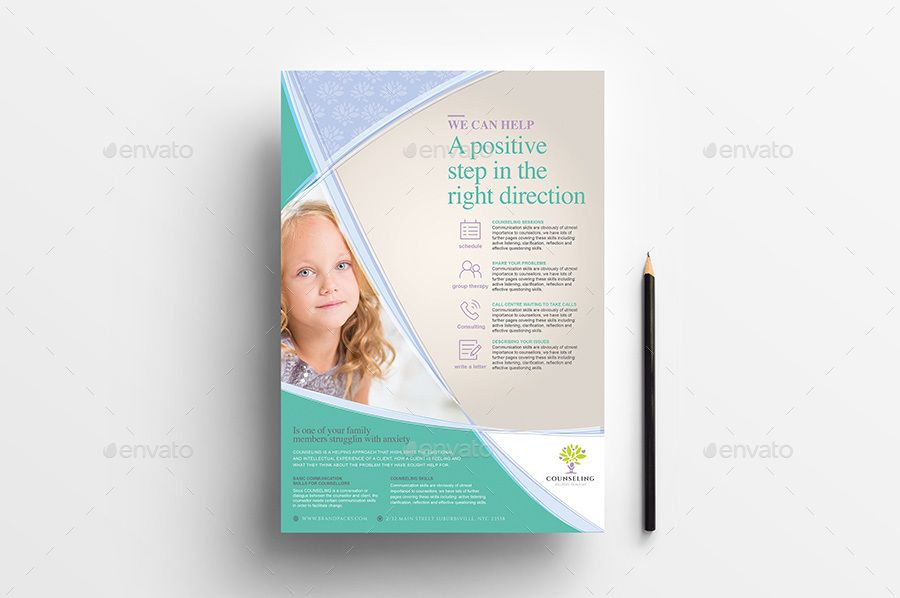 A4 counselling poster advertisement templates
