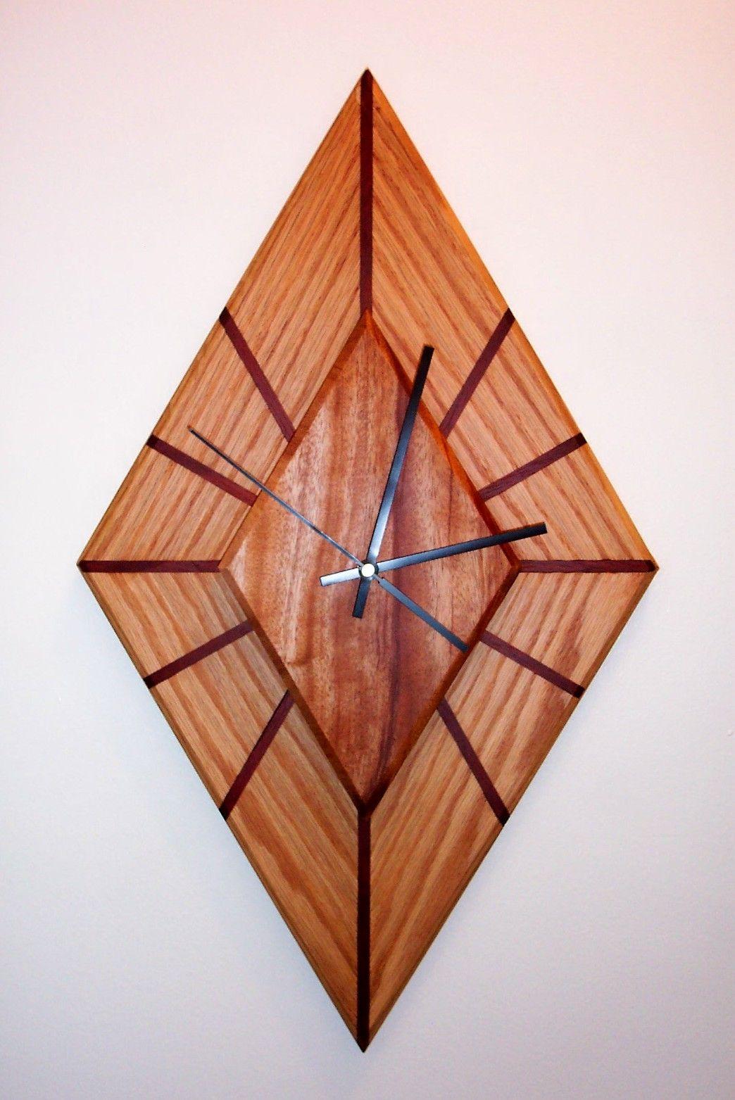 Diamond shaped clock inspired by klockit pinterest clocks diamond shaped clock gamestrikefo Gallery
