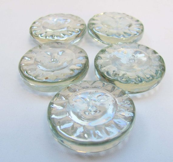 Crystal Clear Aztec Sun Gl Nugget Mosaic Supplies Cabochon Stained