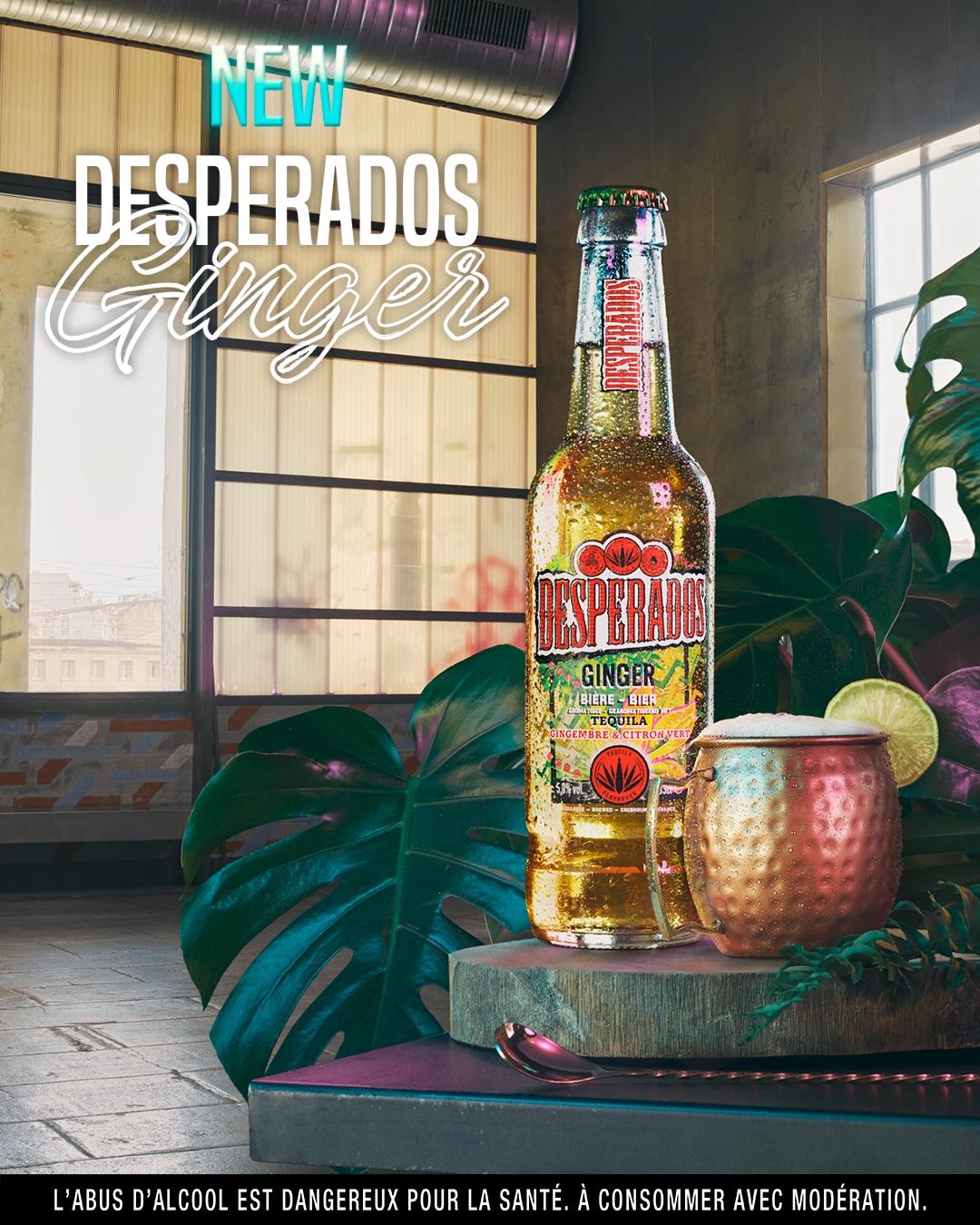 New Desperados Ginger Gingembre Citron Tequila Citron Vert