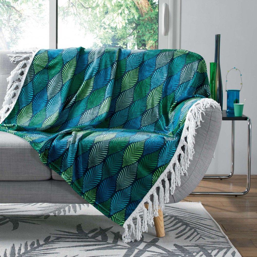 Soldes 2020 Plaid A Franges Winter Green Imprime Feuilles Plaid Decoration Textile Linge De Maison Gifi Plaid Couverture Flanelle Objet Decoration