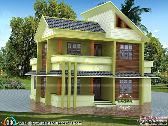 1700 Sq Ft 30 Lakhs Cost Estimated Modern Home 4 Bedroom House Designs Stucco Homes House Design