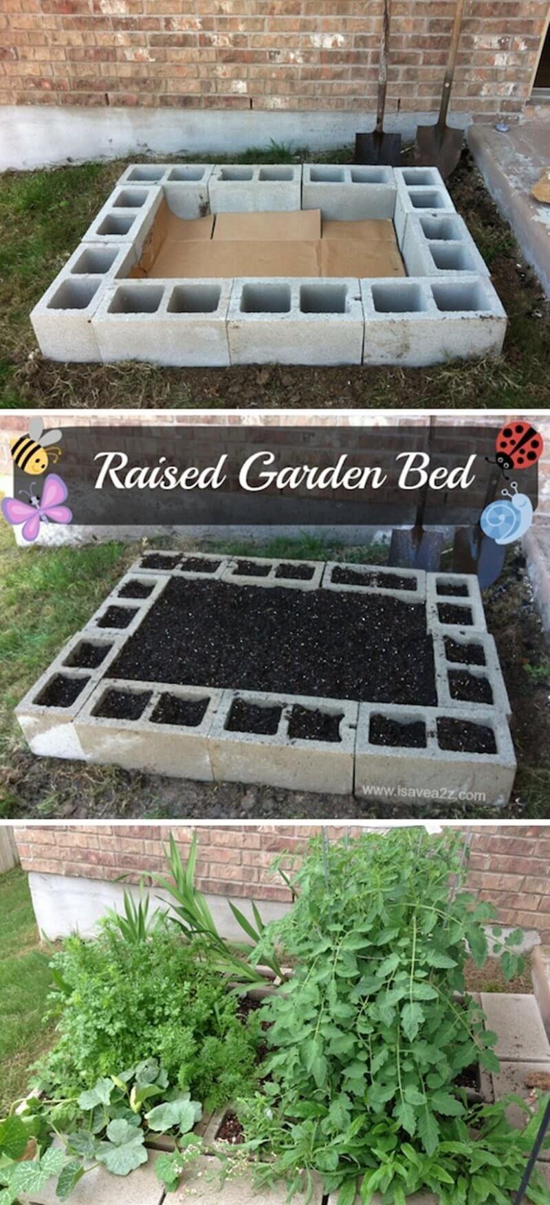 Raised Garden Bed With Cinder Blocks Raised Garden Beds