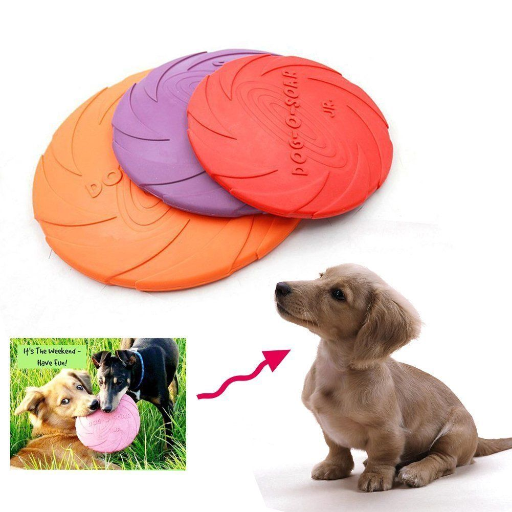 Dog Flying Disc Nniuk Dog Natural Rubber Flying Saucer Floating
