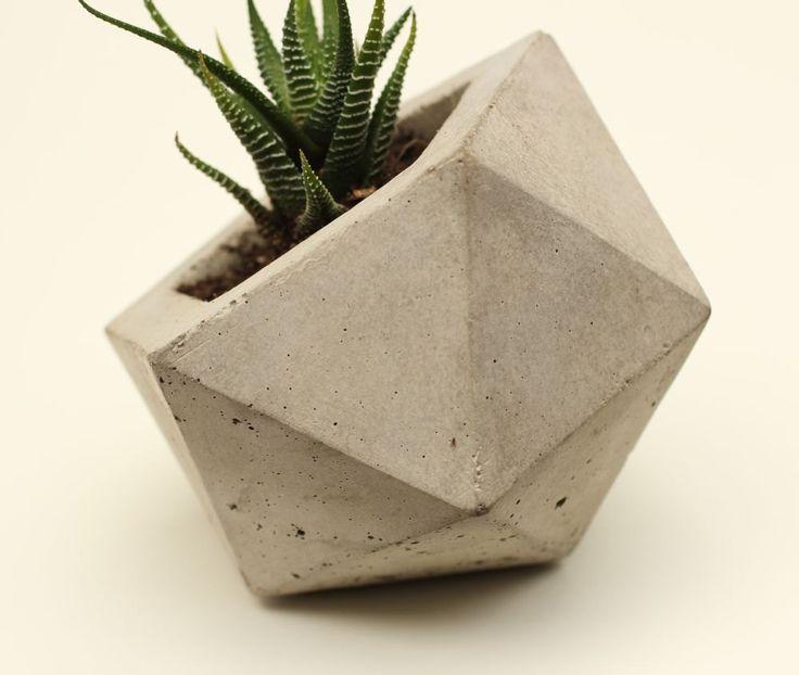 Geodesic Concrete Planter: Dica De Faça Você Mesmo. DIY: CHARMOSOS VASINHOS DE