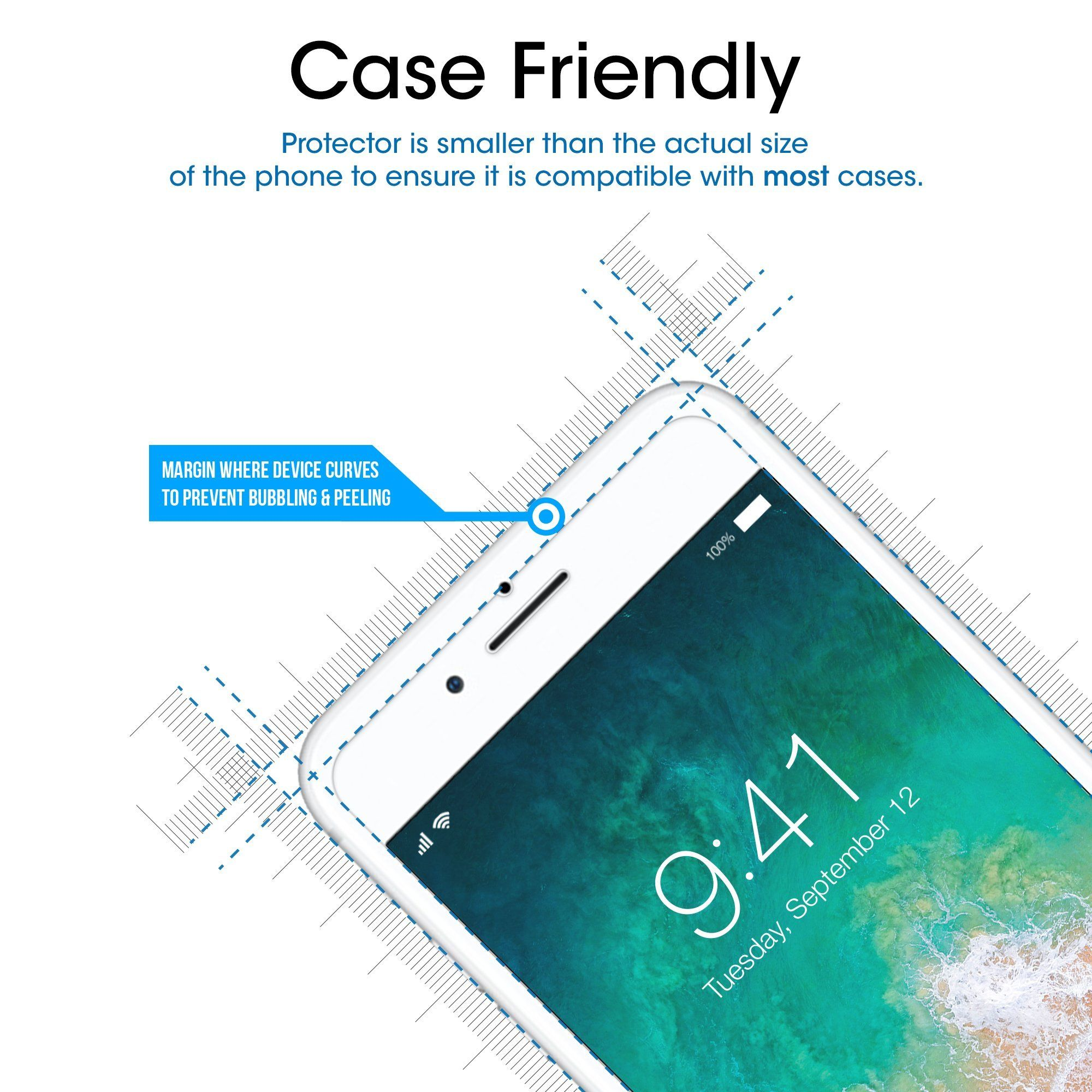 Iphone 8 Plus 7 Plus 6s Plus 6 Plus Screen Protector Amfilm Tempered Gl Screen Protector Iphone Cell Phone Screen Protector Tempered Glass Screen Protector