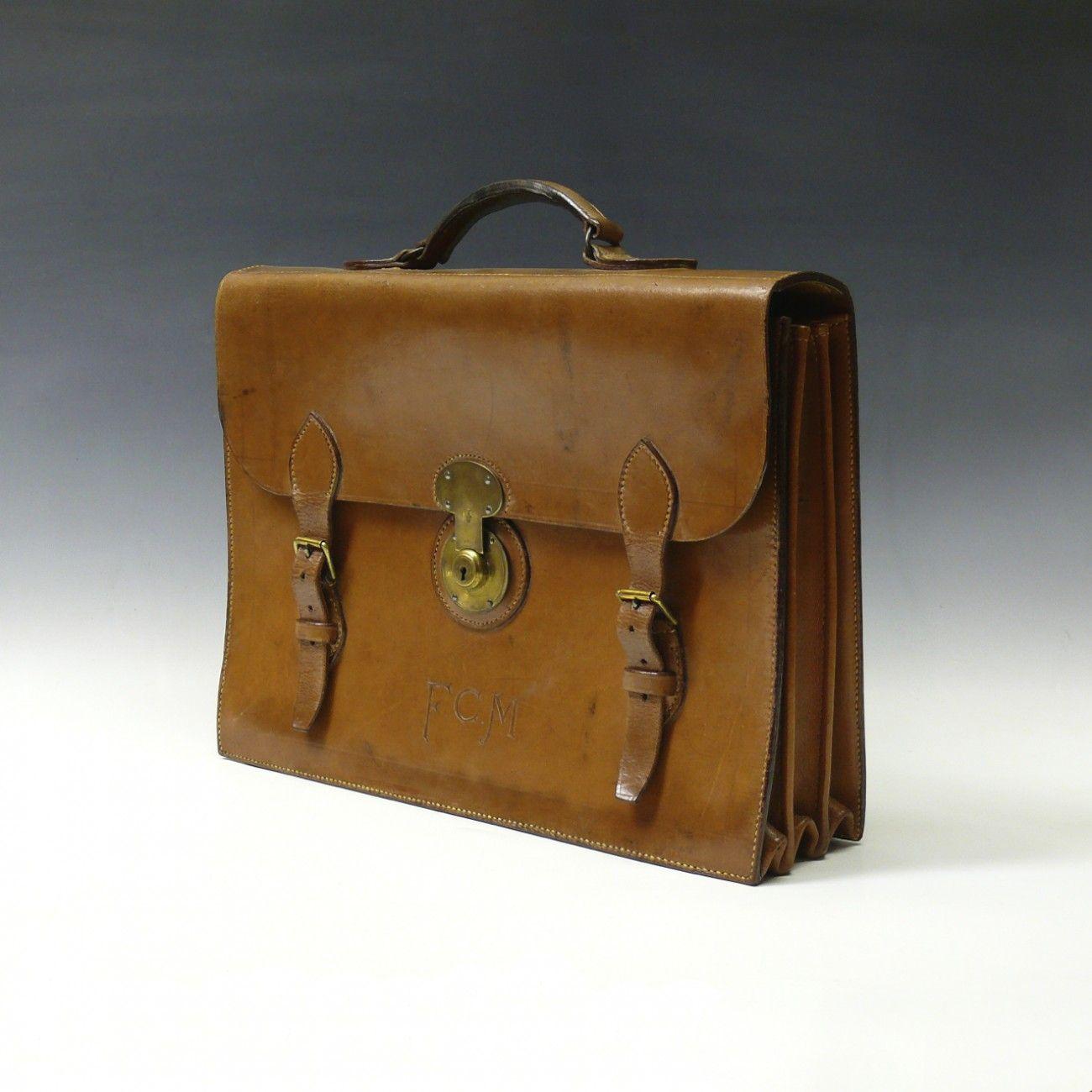 Bentleys — F.C.M Leather Briefcase — Vintage Luggage
