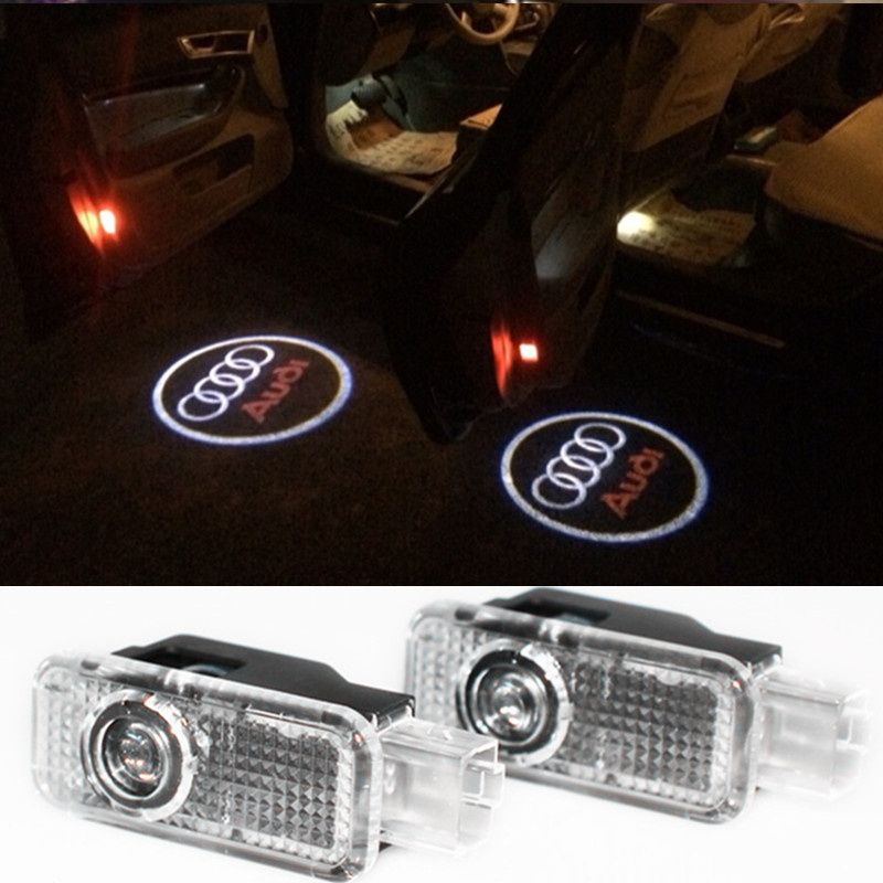 Led Door Warning Light With For Audi Logo Projector For Audi A6 C5 A4 B6 B8 80 A1 A8 Tt Q7 Q5 Q3 A3 A5 A7 R8 Rs S Line S3