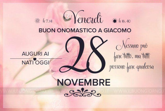 Venerdì 28 Novembre 2014