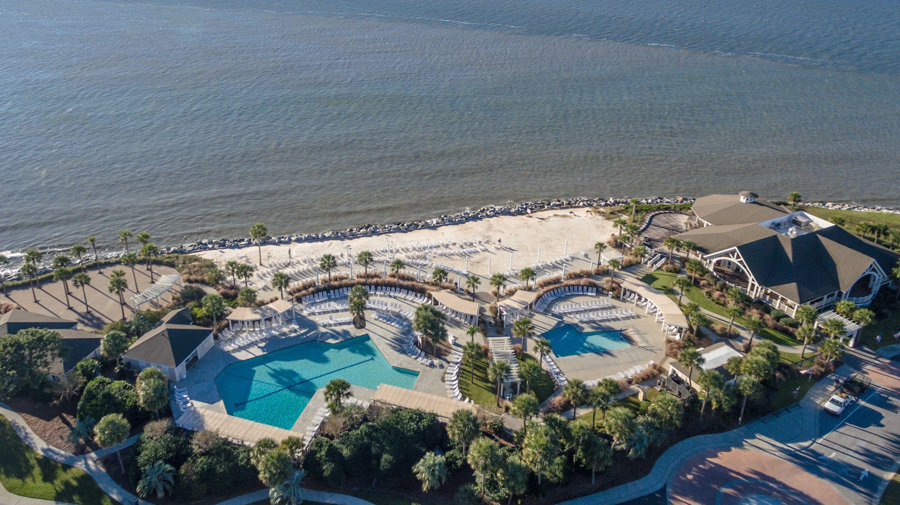 Amazing Aerial View Of The Seabrook Island Beach Club