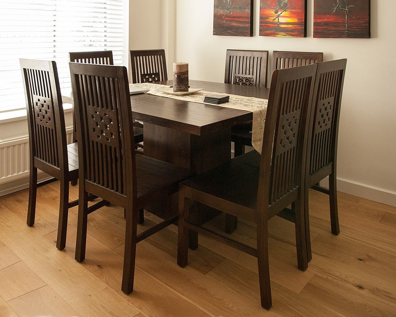 Henry Dark Flora Chair   An Elegant And Stylish Wooden Dining Chair That  Has A Beautiful Hand Carved Floral Design In The Centre. This Dark Teak  Dining ...