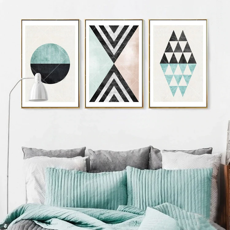 Attractive Geometry Subtle Colors Abstract Scandinavian Wall Art Canvas Prints Scandinavian Wall Art Living Room Art Geometric Art