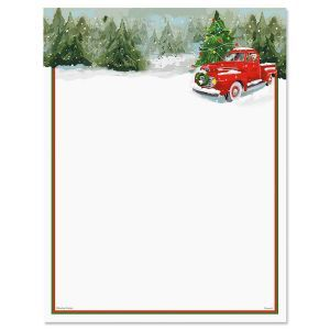 Red Truck Christmas Letter Papers  Crafts    Christmas