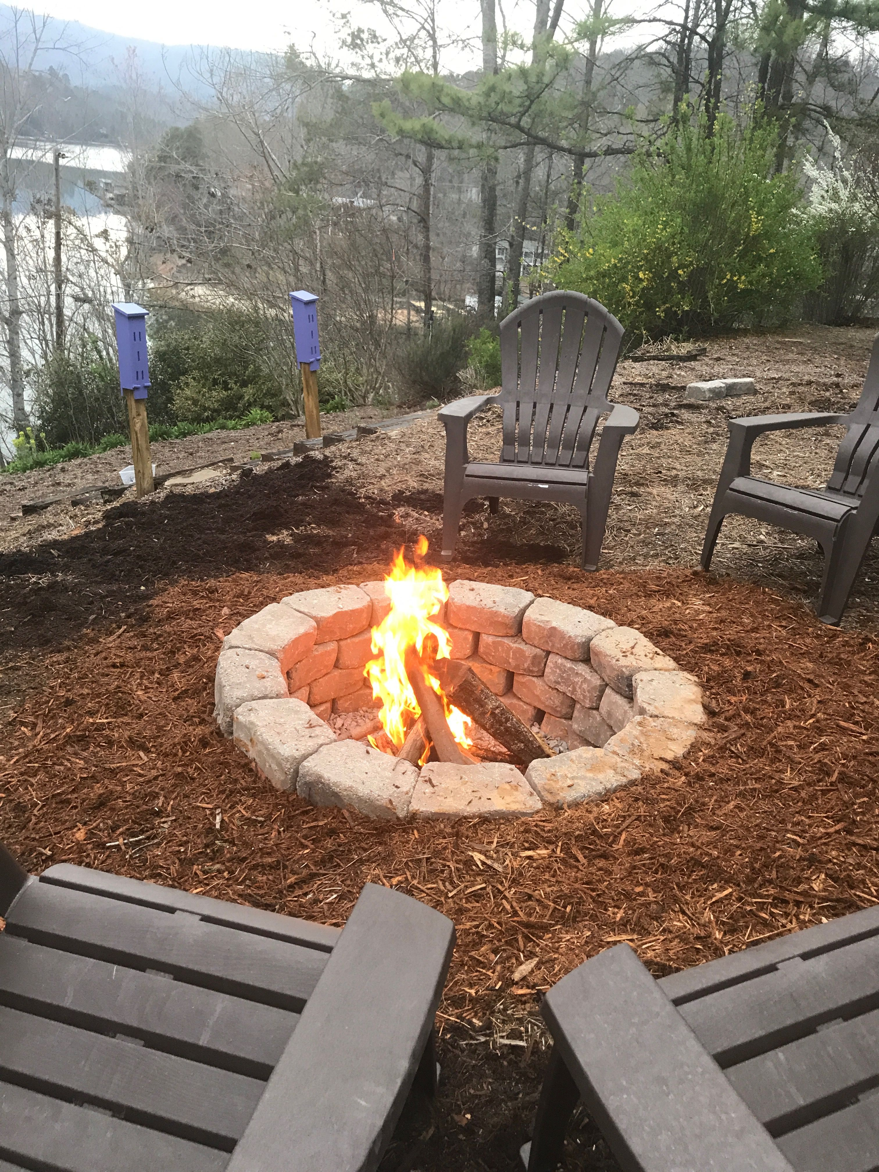 In Ground Fire Pit On Slope Outdoor Fire Pit Beach Fire Pit In