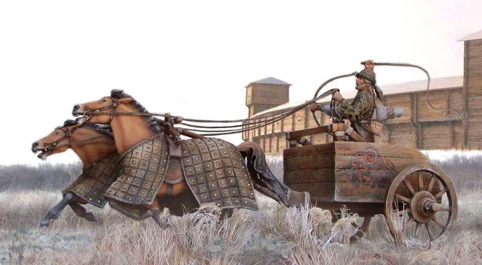 Andronovo culture 2000-1600 BCE ART RECONSTRUCTION ,based on the sintashta arkaim settlement ,Siberia