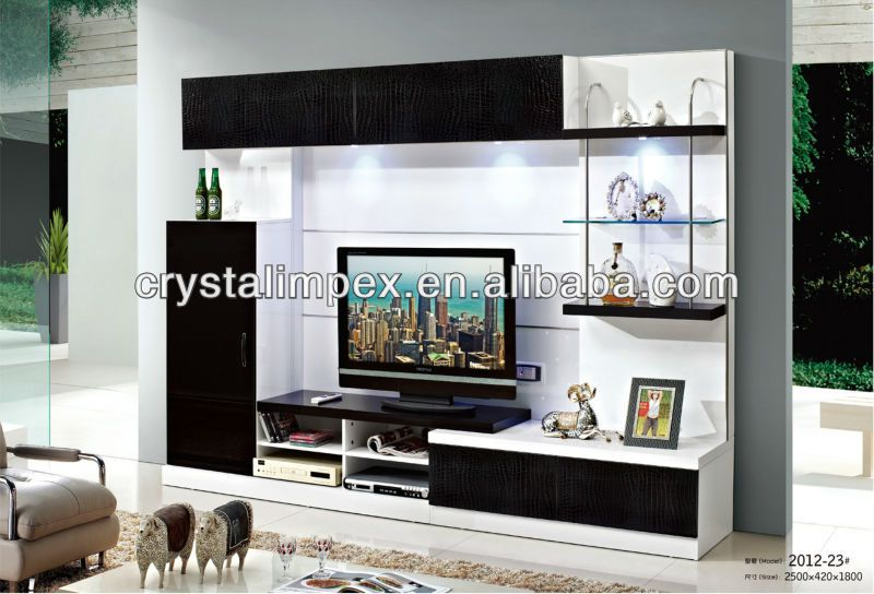 Living Room Futnirue Modern Tv Wall Unit Design 2012 23#   Buy Tv Wall Unit  Design,Wood Tv Stand,Wooden Lcd Tv Stand Design Product On Alibaba.com