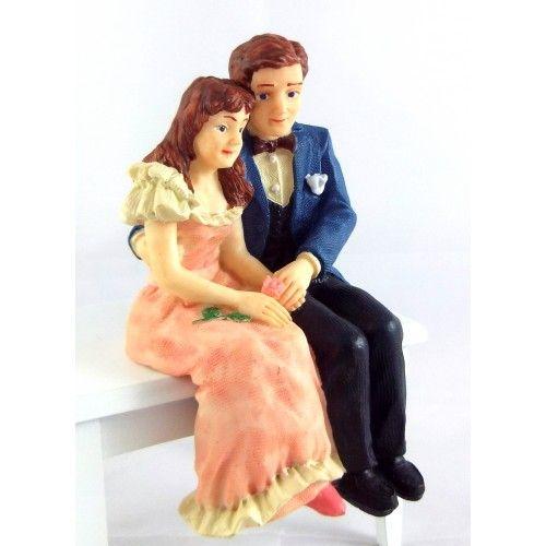 Dollhouse Victorian Couple in Formal Dress Lady /& Gentleman Dolls