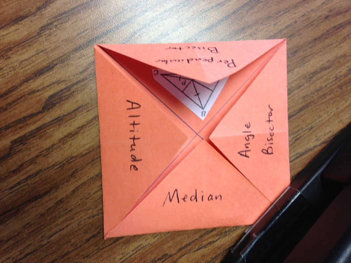 Points Of Concurrency Foldable