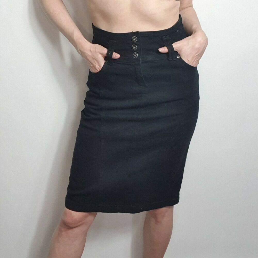 New Womens ladies tan Suedette bodycon midi pencil skirt size 6 8 10 12 14