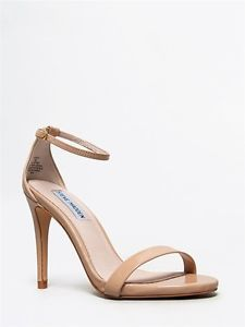 a57aa07f37a NEW STEVE MADDEN STECY Women Patent Ankle Strap Heel Sandals Nude ...