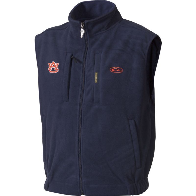 Drake Waterfowl Men's Auburn Windproof Fleece Vest