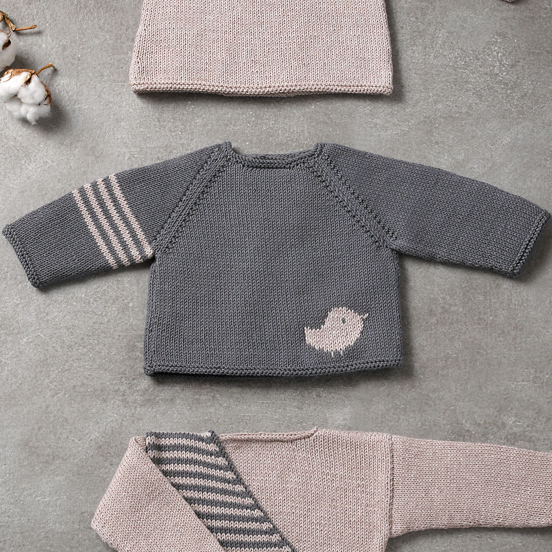 Modell / Anleitung von Pullover von Baby von Herbst / Winter von KATIA #babypullover