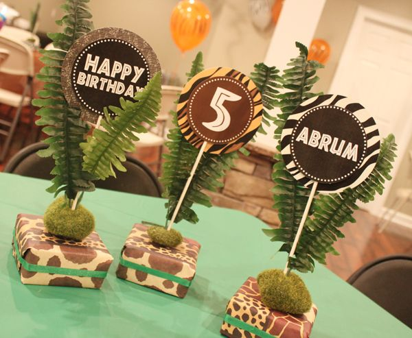 Safari Party Centerpieces On Pinterest Jungle