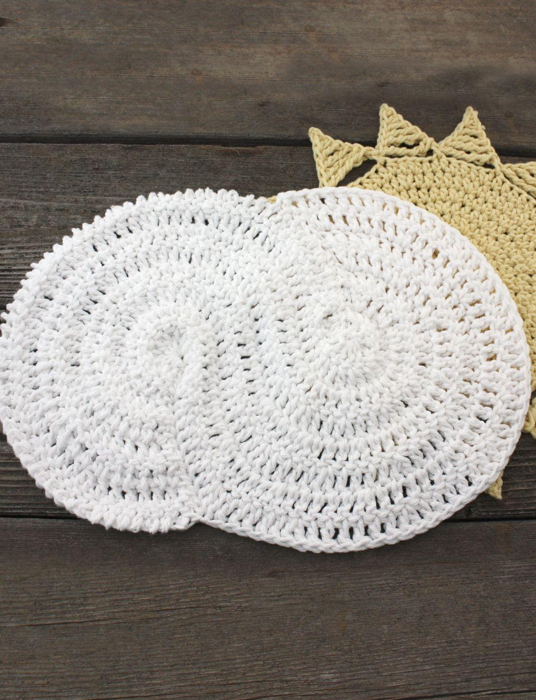 Cloudy Dishcloth   Yarn   Free Knitting Patterns   Crochet Patterns ...