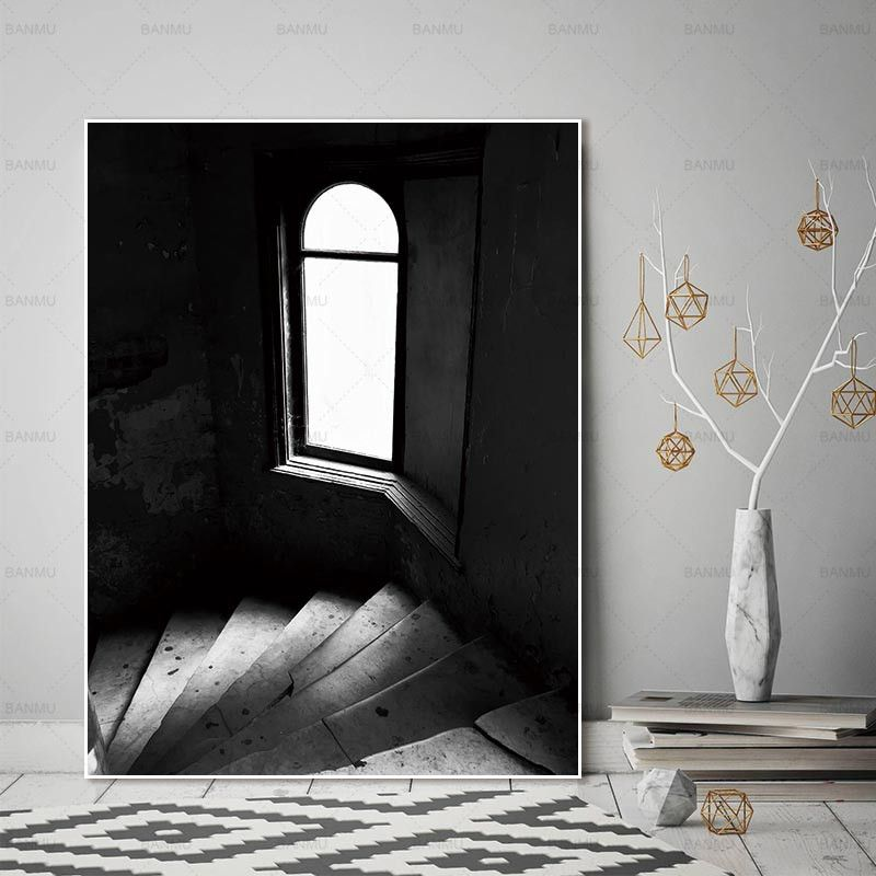 In The Shadows Black And White Photography Home Decor Wall Art