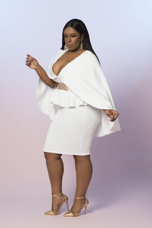 80764ace97eb97 vêtements grande taille blancs | robe de mariée femme ronde ...