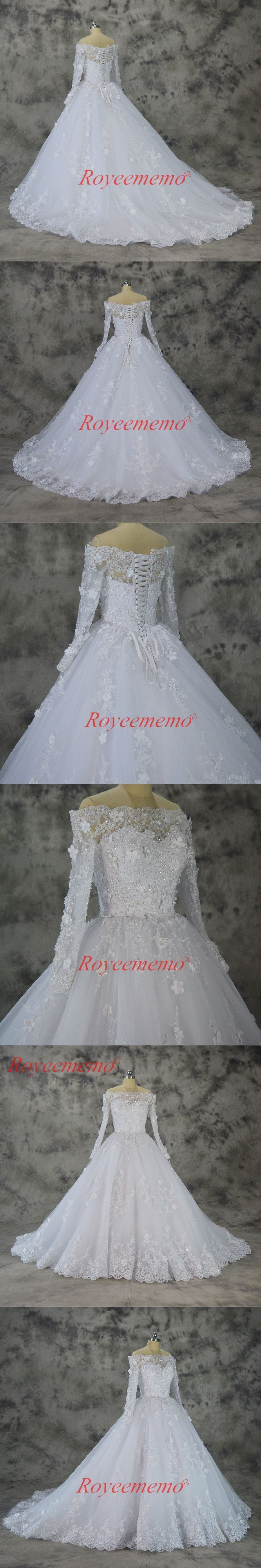 new design vestido de noiva boat neck lace wedding dress off