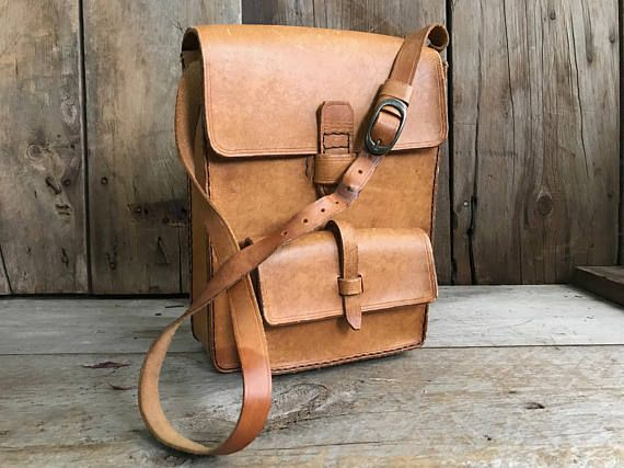 French Leather Handbag Satchel Crafted Sienna Brown