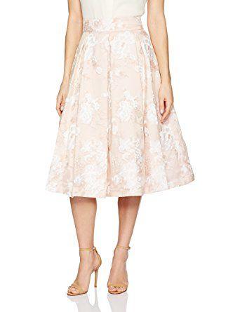 a36ecf6a5 Eliza J Women's Floral Midi Skirt, Blush, 14   Fashion   Midi skirt ...