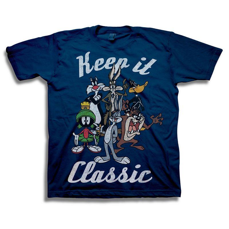 ef85f85f Boys Crew Neck Short Sleeve Looney Tunes Graphic T-Shirt-Big Kid ...
