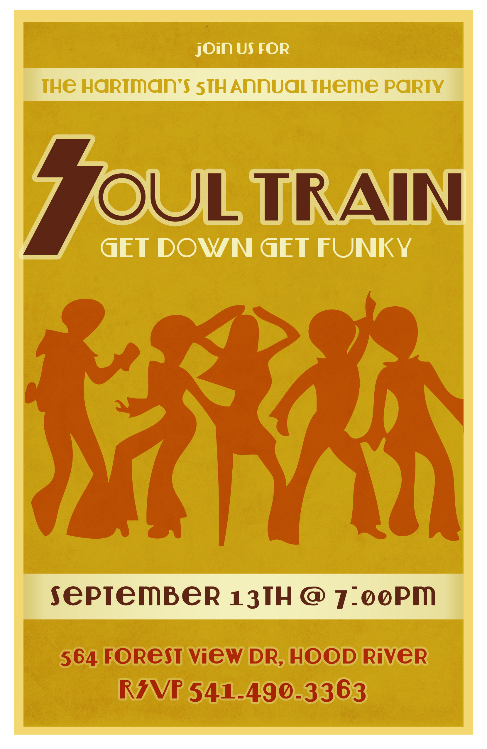 Soul Train party invitation - design by Moxy International | Soul ...