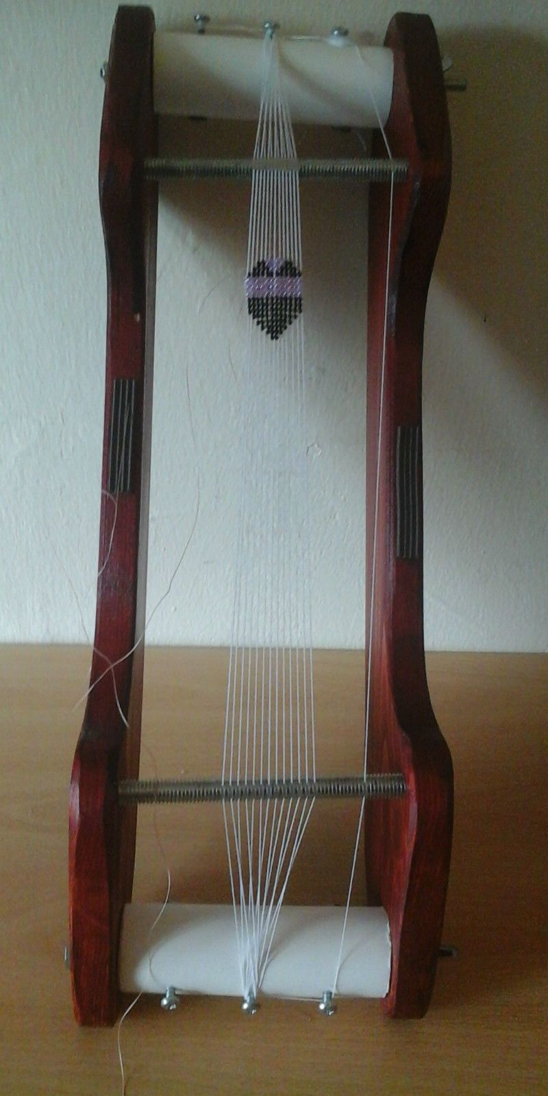 Wooden Bead Loom For Making Your Own Ultimate Jewelery Design Bead Weaving