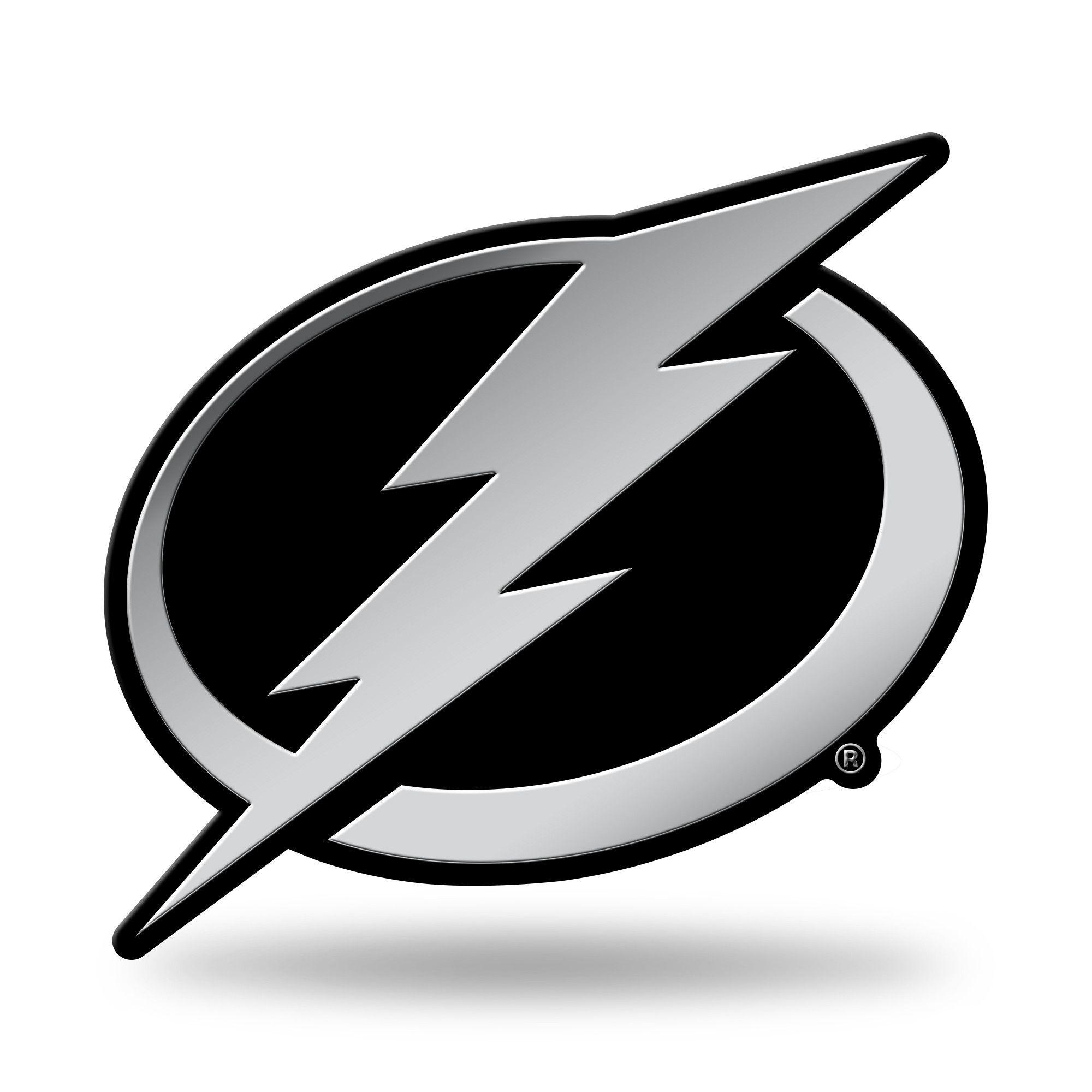 Tampa Bay Lightning Logo 3d Chrome Auto Emblem New Truck Or Car Rico Nhl Car Emblem Tampa Bay Lightning Logo Emblems