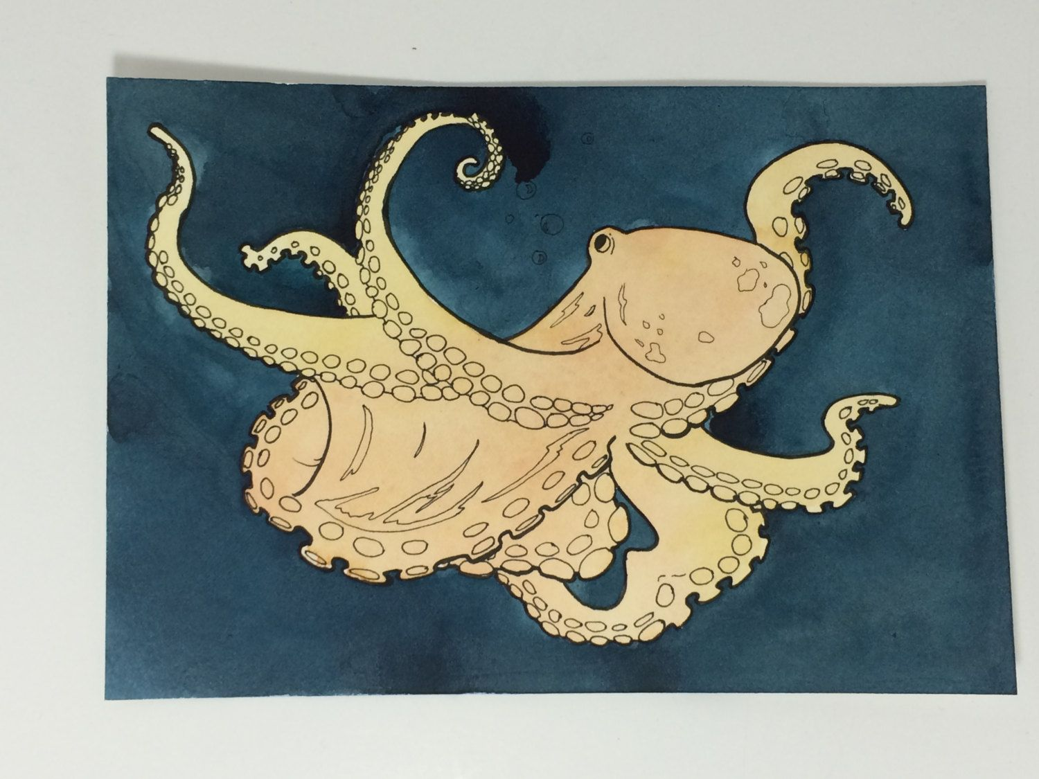 Octopus Art, Octopus Wall Art, Octopus Painting, Octopus Watercolor ...