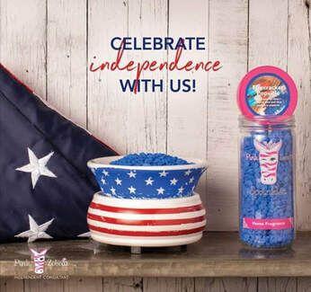New 4th of July Home Fragrance Warmer! #4thofjulydecor #homedecor #redwhiteandblue