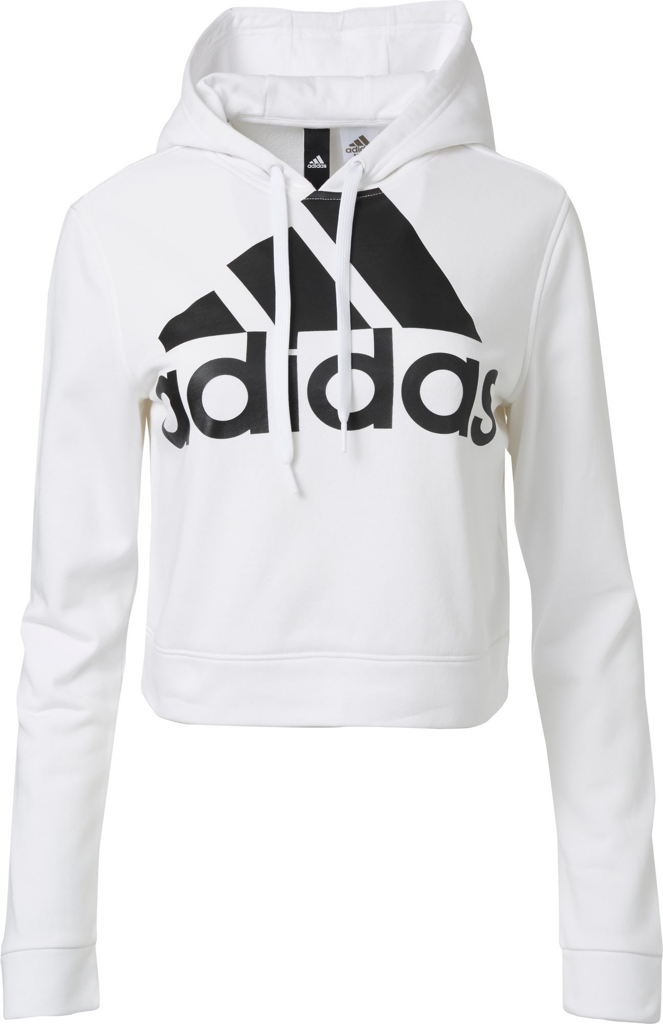 Hot Sale: Adidas Women's Cropped French Terry Hoodie, Size